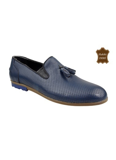Wolfland Hakiki Deri Ayakkabı Mavi